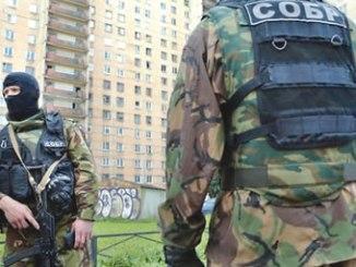 Russian security forces raided suspected North Caucasus militants in St Petersburg. PHOTO: EPA
