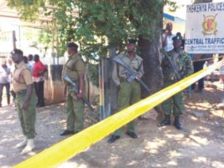 Security forces have cordoned off the area. PHOTO: BBC
