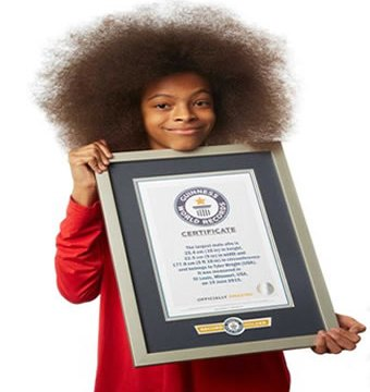 Tyler Wright displaying his award. Photo: Guinness Book of World Records.