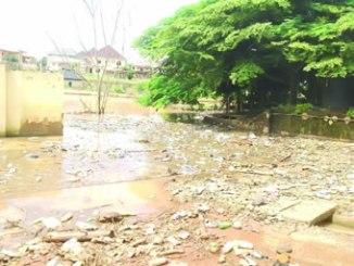 The flooded Fidelity Estate.