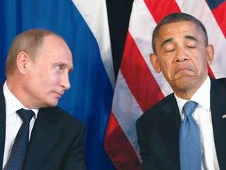 Russian President Vladmir Putin (left) and United States President Barack Obama