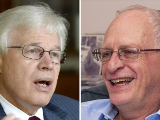 Bengt Holmström, left, and Oliver Hart, right, share this year's Nobel Prize in economics for their research on contract theory. PHOTO: CNN