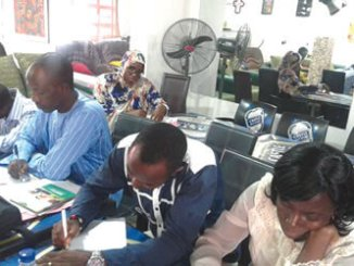•A cross-section  of participants at the workshop.