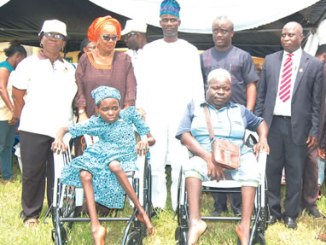 Some physically challenged persons, who benefited from the 2016 Health Initiative of the National Youth Service Corps in Ogun State. PHOTO: NAN