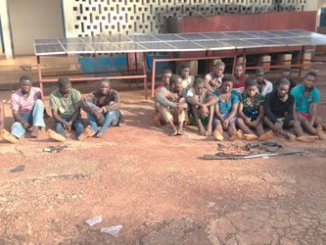 The suspects on parade by the police in Enugu