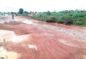 A major road linking Akowo, Liforte and Awotan in a very bad condition. Photos: Seyi Sokoya