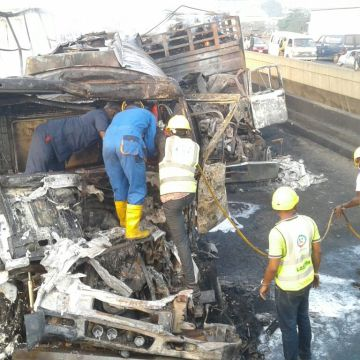 More photo from the accident scene. PHOTO: SYLVESTER OKORUWA