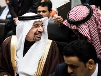 Khalid Al-Falih at OPEC meeting, Nov. 30. Photo: Bloomberg.