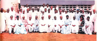 South-West sate governors' elect and their deputies with the state chairman and other Alliance for Democracy leaders were hosted at Sir Olaniwun Ajayi's Isara home in 1999.