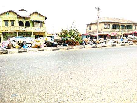 In Ibadan, it's refuse everywhere
