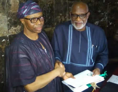 Mimiko hands over to Akeredolu in Ondo