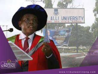 Vice-chancellor, Ambrose Alli University (AAU), Prof. Ignatius Onimawo