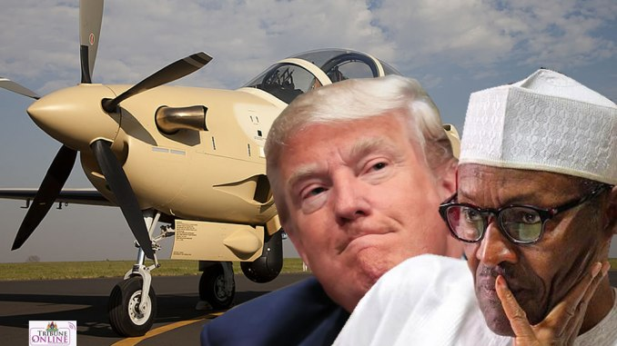Image result for The Trump administration will move forward with the sale of high-tech aircraft to Nigeria