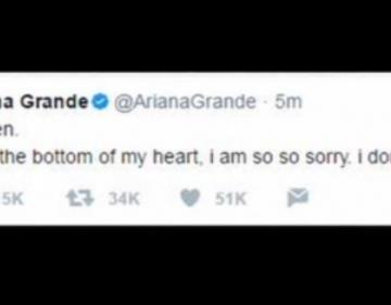 Ariana Grande 'broken' in tweet after Manchester attack