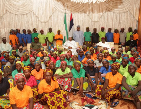 #ChibokGirls: Freed 82 girls would reunite with family next week