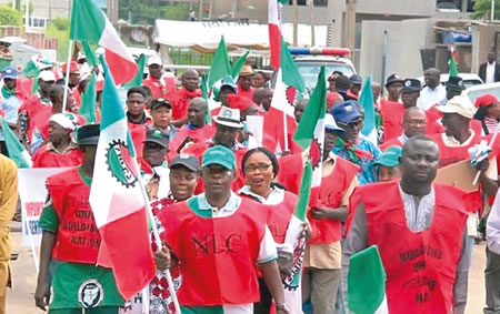 Industrial court issues , Labour directs Kano workers, NLC to come out, protest, NDDC, NSITF and the EFCC, Buhari, nationwide, salary reduction, shut down states, Ekiti labour, Kwara, health workers, labour