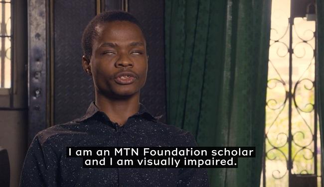 MTN Scheme for Blind Students