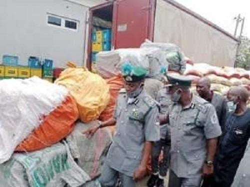 Customs impound contraband goods
