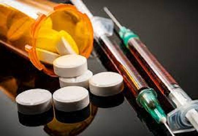Overdose of opioids
