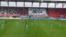 Ultras spájajú, rasizmus rozdeľuje Fortuna Düsseldorf, Düsseldorf, Nemecko