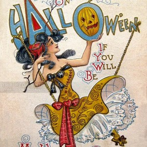 "Vintage 1914 Dwig ""My Witching Queen"" Halloween Postcard 8×10 Fine Art Print"