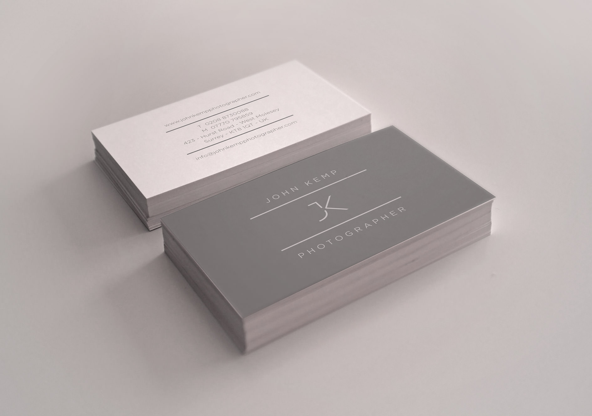 The John Kemp Business Card design – Tribus Creative, brand identity design for SMEs