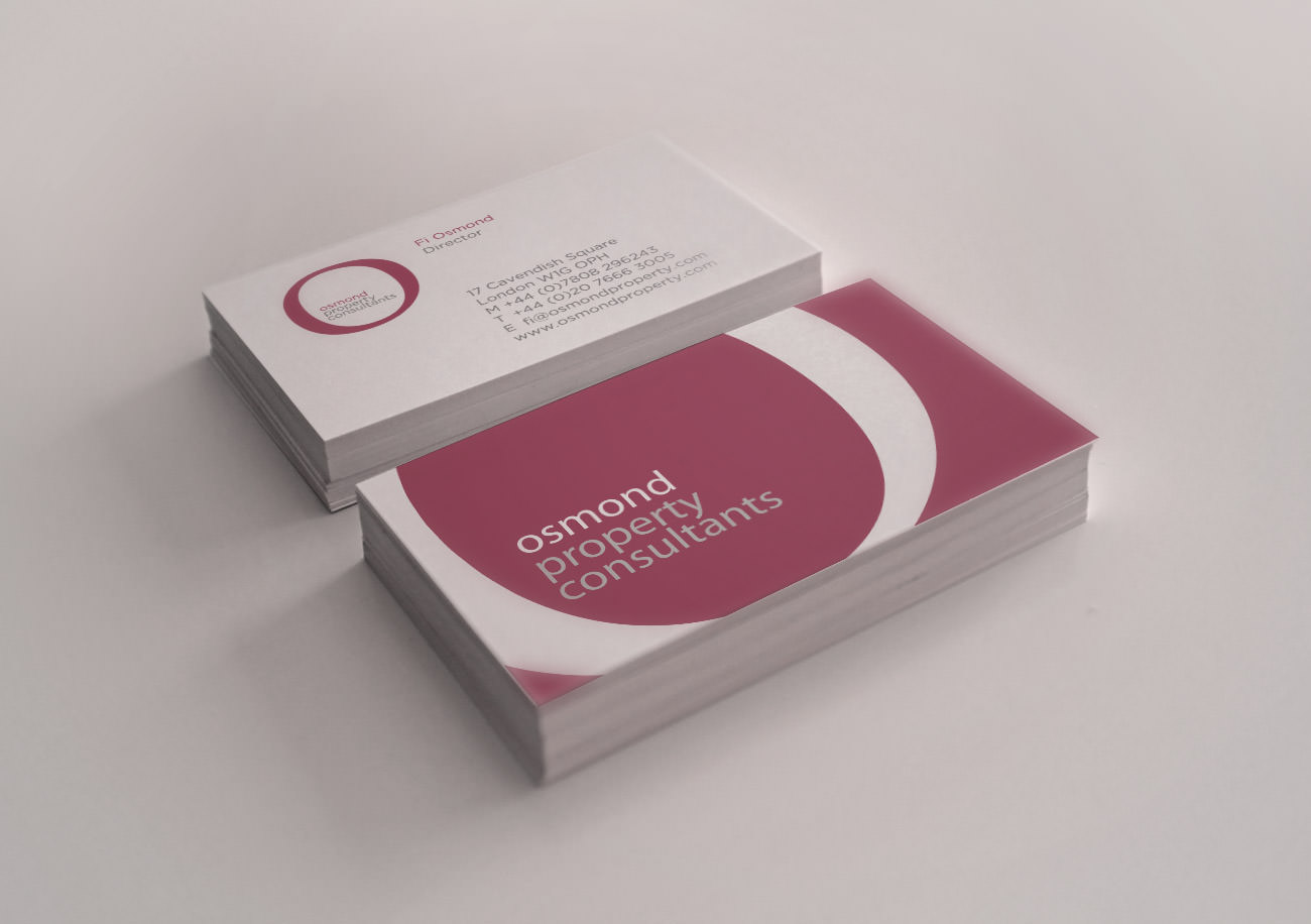 The Osmond Property Consultants business card design | Tribus Creative - brand identity design for small business
