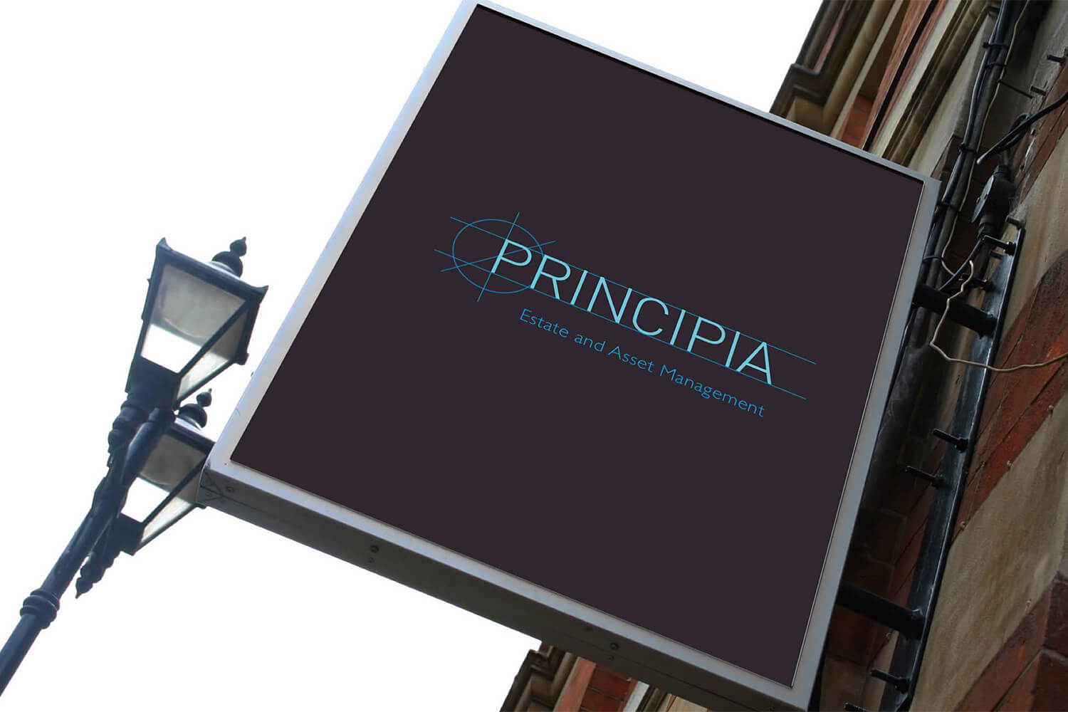 A mockup of the design for a sign to be erected outside the Principia offices