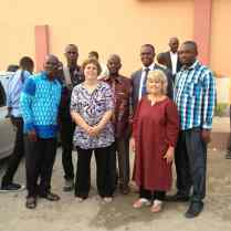 The training team with national coordinators and Dr. Muteba