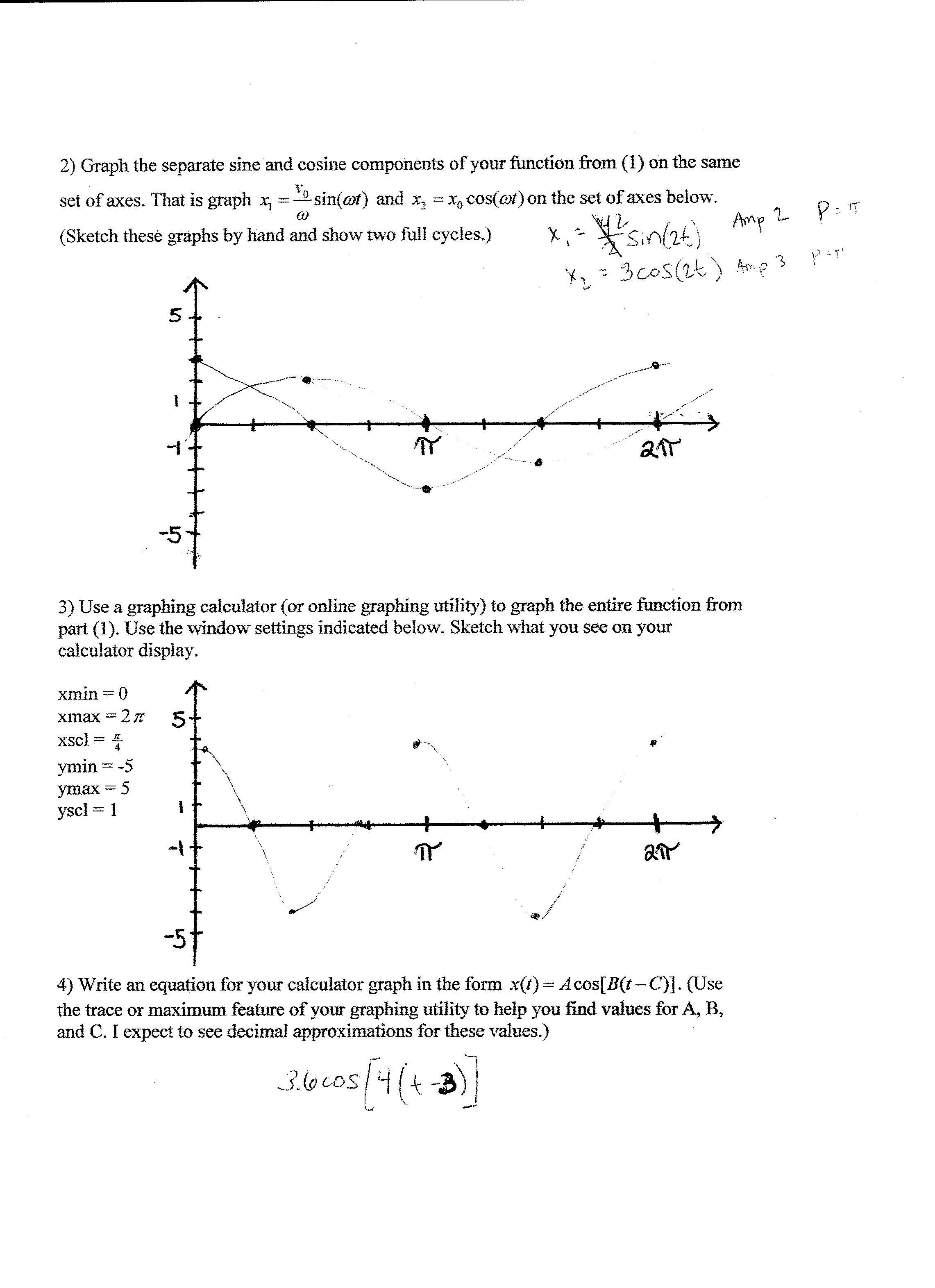 Math Trigonometry Mass Spring Project