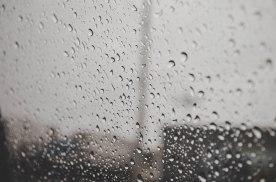 It suddenly rained. Felt a little down.