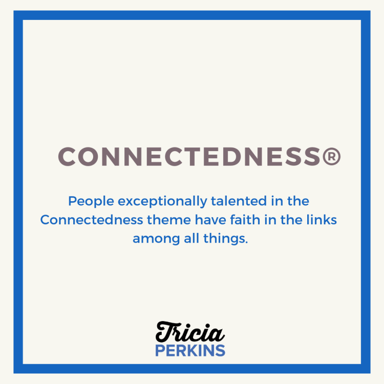 Gallup Connectedness Theme Card