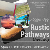 Blogger Opp: $500 Rustic Pathways  I Love Travel Giveaway
