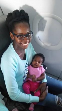 Smiling before landing