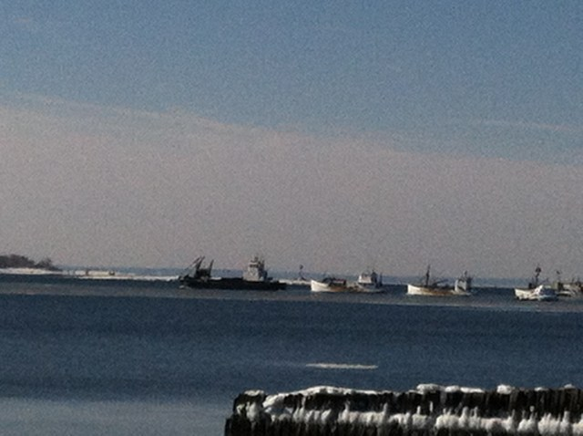 boats on sound winter