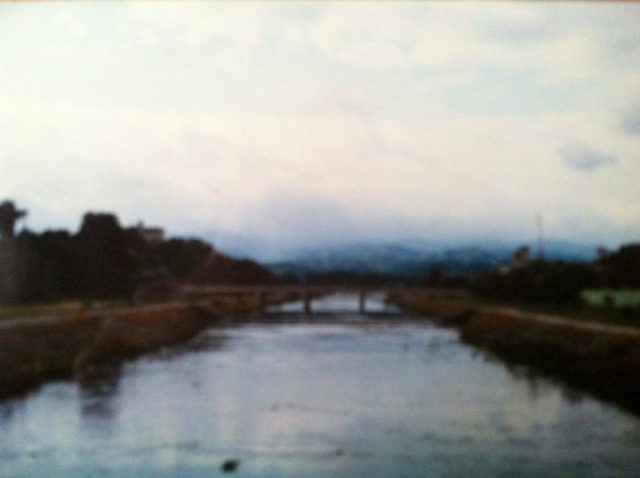 From a bridge over the Kamogawa - Kyoto.