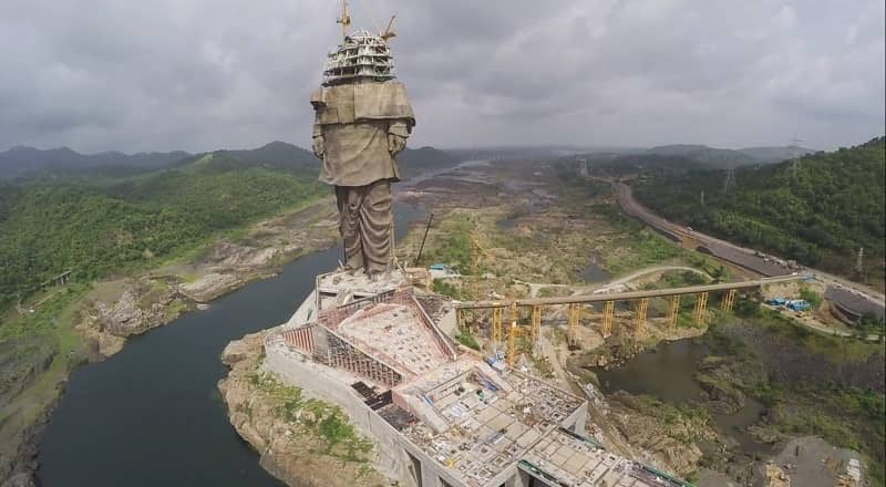 Statue of unity- construction