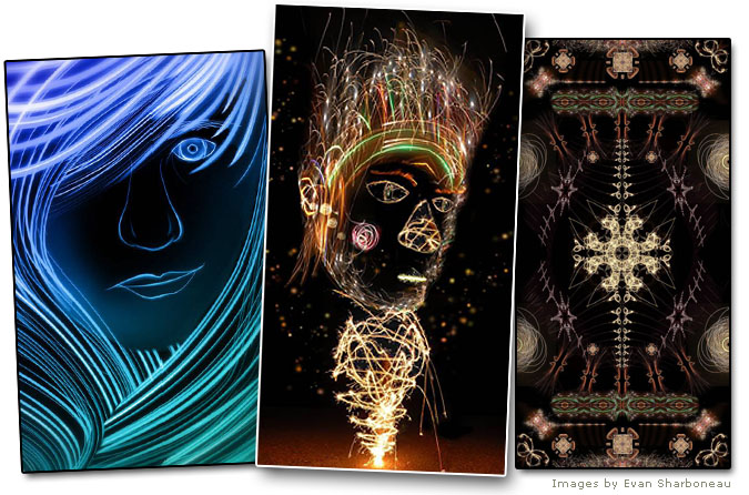 Light Painting Digital Photomanipulation in Adobe Photoshop