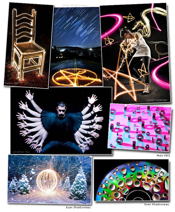 Long Exposure Light Painting Photos