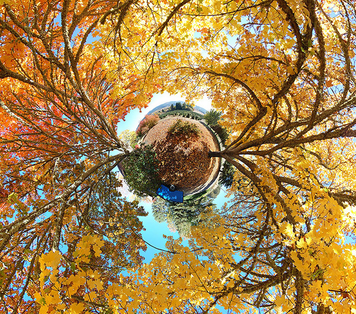 360X180 Stereographic Planet Panorama