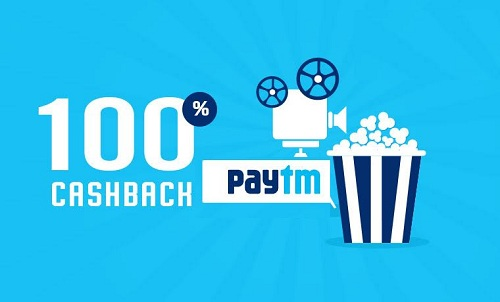 Paytm 100%cashback on movie tickets.