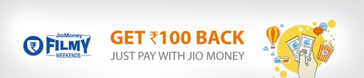 BookMyShow Jio Money Offer-Get Flat Rs100 Cashback on Jio Money