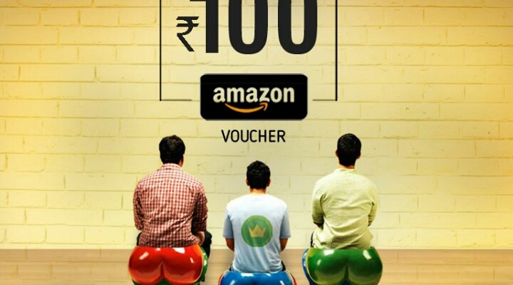 Crownit refer and earn amazon voucher worth rs100