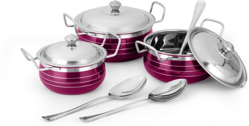 Classic Essentials Induction Bottom Cookware Set  (Stainless Steel)