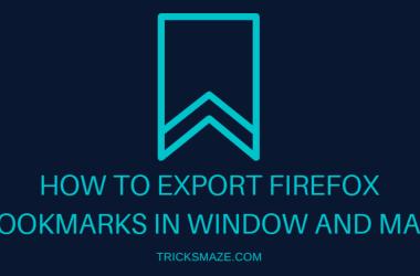Export Firefox bookmarks