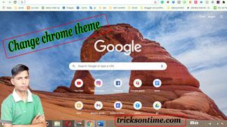 how to change google chrome theme