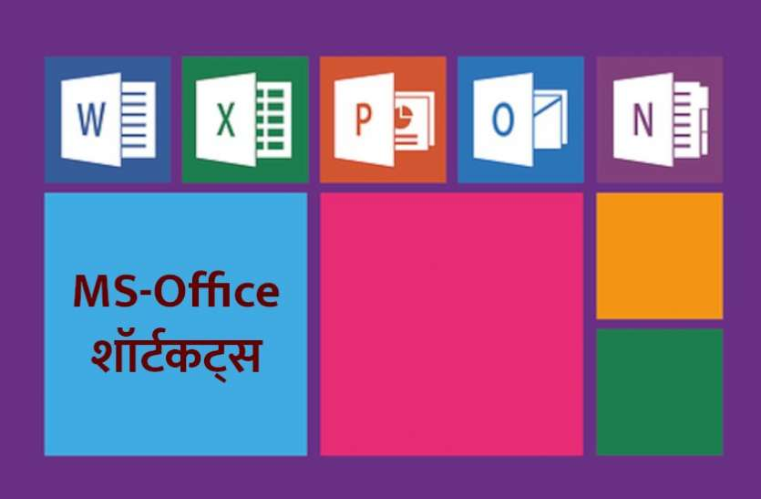 MS-Office Shortcut Commands In Hindi
