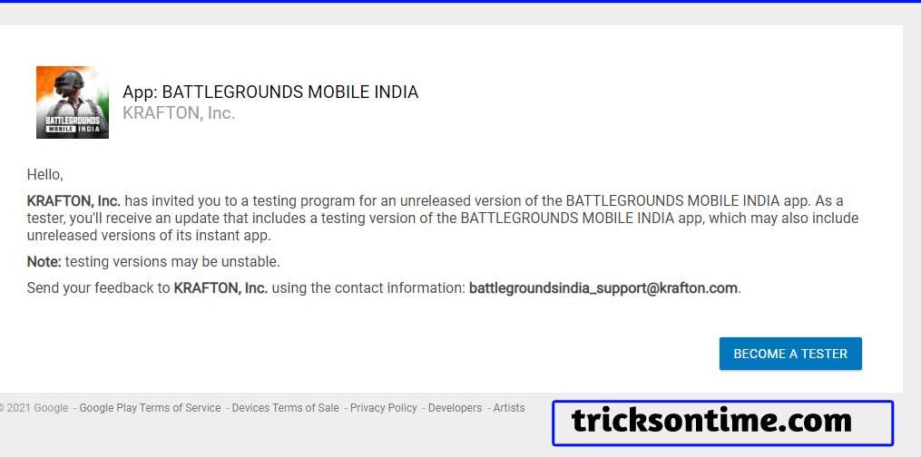 battleground mobile India beta version