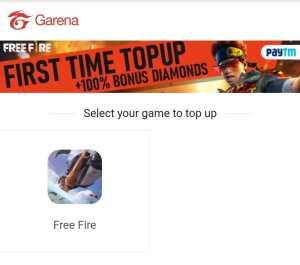 FreeFire First Time TopUp