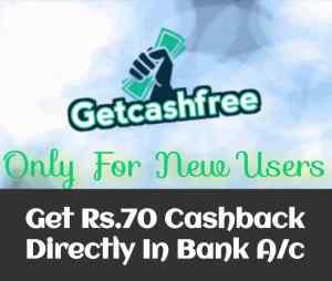 GetCashFree Offer